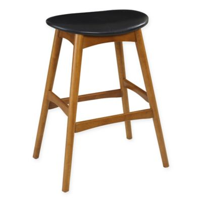 29inch midcentury saddle stool in oak - Saddle Stools