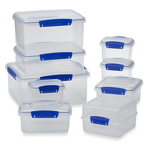 Sistema klip it food storage containers bed bath beyond for Bathroom containers
