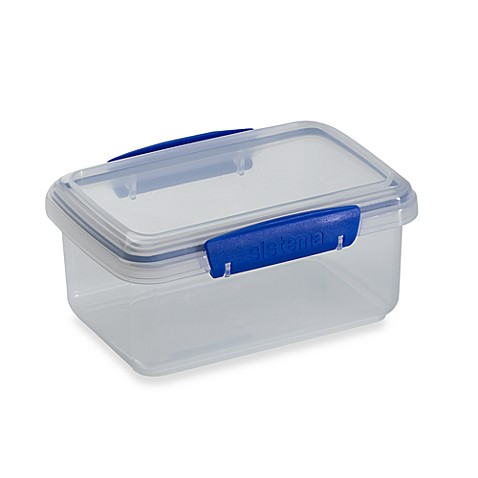Sistema klip it 1 liter food storage container in clear for Clear bathroom containers