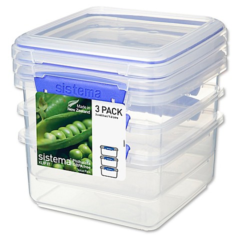 SistemaR KLIP ITTM 12 Liter Lunch Plus Food Storage Containers Set Of