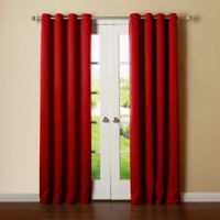 Decorinnovation Basic Solid 63-Inch Room-Darkening Grommet Window Curtain Panel Pair in Red