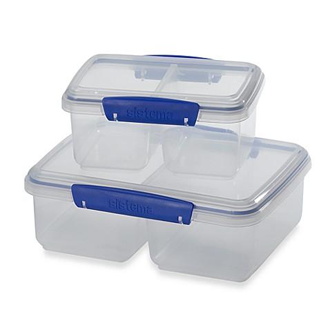 Sistema® KLIP IT™ Split Food Storage Containers  sc 1 st  Bed Bath u0026 Beyond & Sistema® KLIP IT™ Split Food Storage Containers - Bed Bath u0026 Beyond