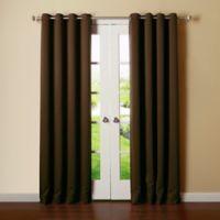 Decorinnovation Basic Solid 63-Inch Room-Darkening Grommet Window Curtain Panel Pair in Chocolate