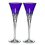 Waterford® Lismore Pops Toasting Flutes in Purple (Set of 2)