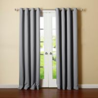 Decorinnovation Basic Solid 84-Inch Room-Darkening Grommet Window Curtain Panel Pair in Grey