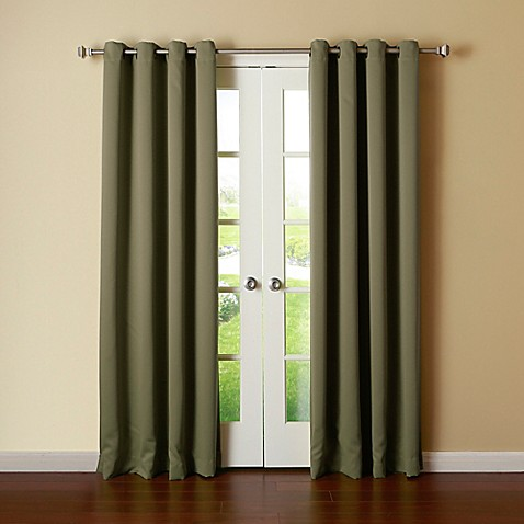 Buy Decorinnovation Basic Solid 84 Inch Room Darkening Grommet Window Curtain Panel Pair In
