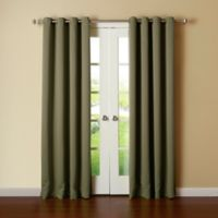 Decorinnovation Basic Solid 84-Inch Room-Darkening Grommet Window Curtain Panel Pair in Olive