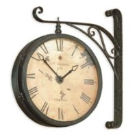 Bassett Mirror Company Victorian Railroad Wall Clock in Black/Copper