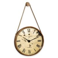 Bassett Mirror Company Watchman Oversized Wall Clock in Gold