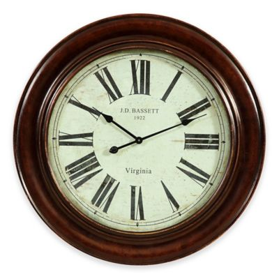 buy roman numeral wall clock from bed bath beyond