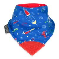 Cheeky Chompers® Neckerchew® Space Rockers 2-in-1 Teething Bandana Bib in Blue