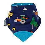 Cheeky Chompers® Neckerchew® Reynard's Farm 2-in-1 Teething Bandana Bib in Navy Blue