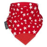 Cheeky Chompers® Neckerchew® 2-in-1 Teething Bandana Bib in Red Star Pattern