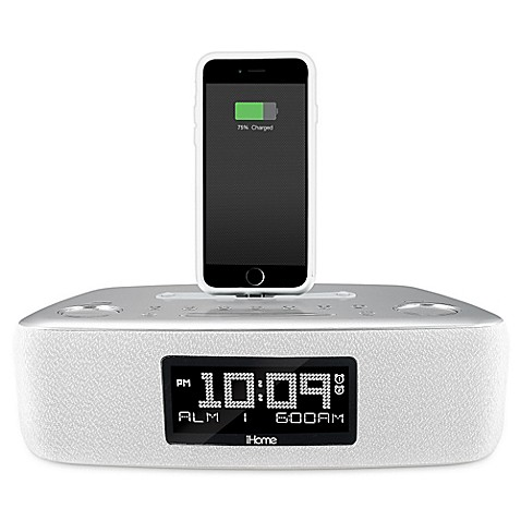 ihome idl44 dual alarm clock radio with usb charging port bed bath beyond. Black Bedroom Furniture Sets. Home Design Ideas