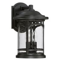 Quoizel Marblehead Wall-Mount Outdoor 14.5-Inch Medium Wall Lantern in Black