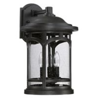Quoizel Marblehead Wall-Mount Outdoor 17.5-Inch Large Wall Lantern in Black
