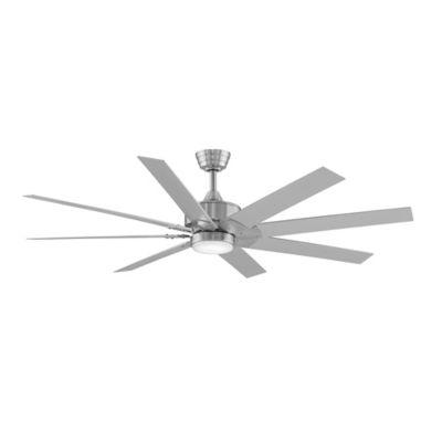 Fanimation Levon 63 Inch Single Light Ceiling Fan In Brushed Nickel