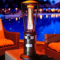 Lava Heat Italia Mini Ember Tabletop Liquid Propane Outdoor Heater in Gunmetal