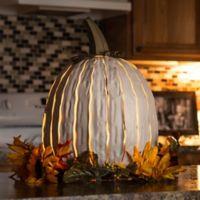 Desert Steel Squatty Pumpkin Lantern in White