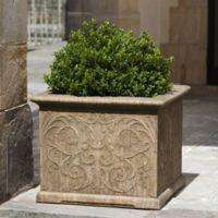 Campania Arabesque 21-Inch Square Planter in Aged Limestone