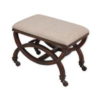 Sterling Industries Single Arc Upholstered Bench in Dark Woodland