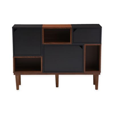 Baxton Studio Anderson Oak Sideboard Storage Cabinet in Dark Brown  sc 1 st  Bed Bath u0026 Beyond & Buy Wood Kitchen Storage Cabinet from Bed Bath u0026 Beyond