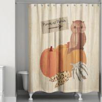 Pumpkin Patch Owl Shower Curtain in Orange/Brown