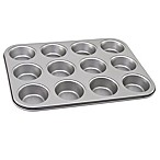 Oneida® Supreme Nonstick 12-Cup Aluminized Steel Muffin Pan in Silver