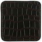 Thirstystone® Faux Crocodile Print Coaster in Brown