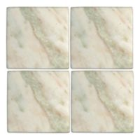 Thirstystone® Square Marble Coaster in White