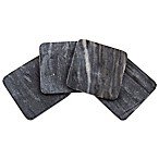 Thirstystone® Square Marble Coaster in Black