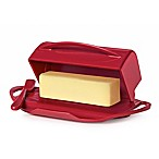 Butterie™ Flip-Top Butter Dish with Spreader in Red