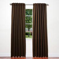 Decorinnovation Basic Solid 63-Inch Room-Darkening Back Tab Window Curtain Panel Pair in Chocolate