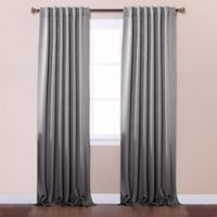 Decorinnovation Basic Solid 84-Inch Room-Darkening Back Tab Window Curtain Panel Pair in Grey