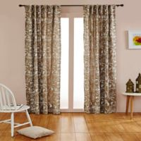India's Heritage Bird's Paradise 96-Inch Rod Pocket/Back Tab Window Curtain Panel in Natural/Ivory