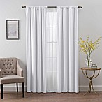 SmartBlock™ Chroma 84-Inch Rod Pocket Blackout Window Curtain Panel in White