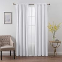 SmartBlock™ 84-Inch Rod Pocket Room Darkening Window Curtain Panel in White