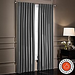 SmartBlock™ Chroma 84-Inch Rod Pocket Blackout Window Curtain Panel in Charcoal