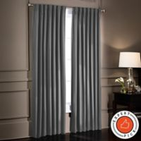 SmartBlock™ 108-Inch Rod Pocket Room Darkening Window Curtain Panel in Charcoal