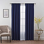 SmartBlock™ Chroma 84-Inch Rod Pocket Blackout Window Curtain Panel in Navy