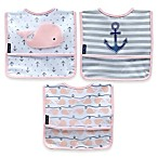 Nautica® 3-Pack Whale Bibs in Blue