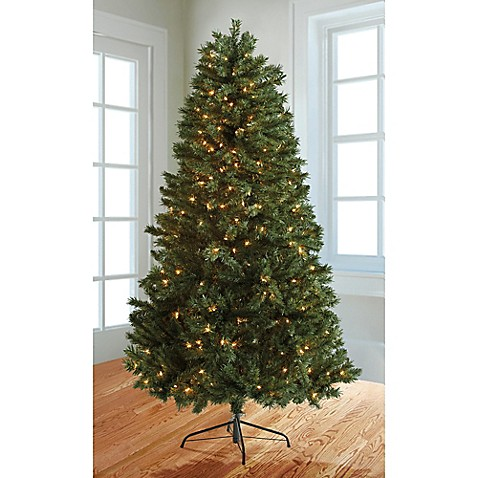 6.5-Foot Pre-Lit Christmas Tree with Stand