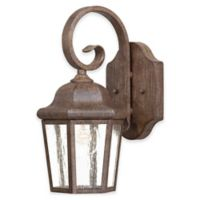 The Great Outdoors by Minka-Lavery Taylor Court 1-Light Wall Mount with Vintage Rust Finish