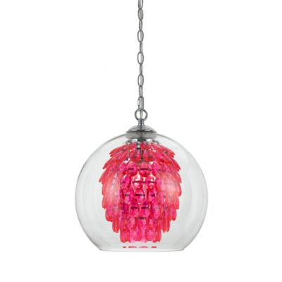 Buy pink chandelier light from bed bath beyond af lighting the elements chandelier in hot pink mozeypictures Images