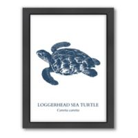 Americanflat© Sea Turtle Collection Wood-Framed Sea Turtle Print Sea in Multicolor