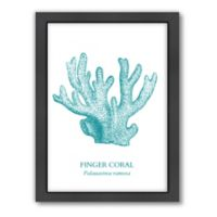 Americanflat Coral Wood-Framed Wall Art