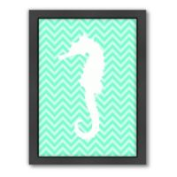 Americanflat Sea Chevron 2 Wood-Framed Wall Art