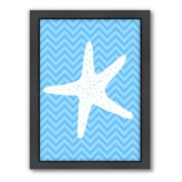Americanflat Sea Chevron 3 Wood-Framed Wall Art
