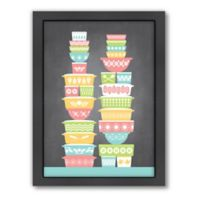 Americanflat Jilly Jack Designs KitchenBar Vintage Bowls 1 Matte Print with Frame