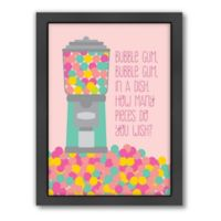 Americanflat Jilly Jack Designs Sweets Gumball Machine 1 Matte Print with Frame